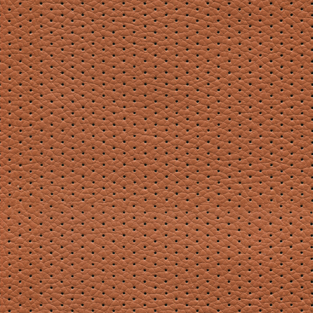 seamless brown perforated leather texture