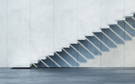 stairs leading upward, 3d rendering Stock Photo