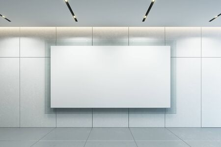 blank picture frame on the wall, 3d rendering Imagens