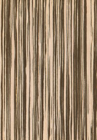 Natural wooden texture background. Zebrano wood.