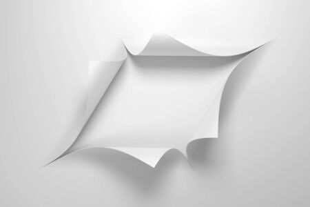 paper with the curled corner, 3d rendering