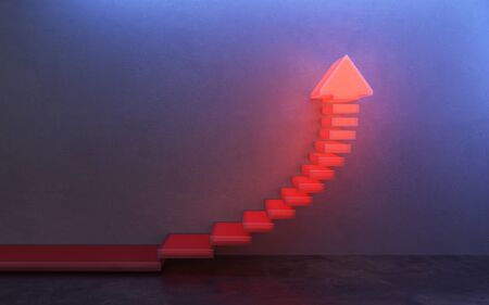 stairs going  upward, 3d rendering Banque d'images - 143485932