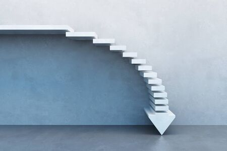 crisis concept, falling stairs, 3d rendering Banque d'images - 143485934