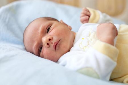 One week old baby boy photo
