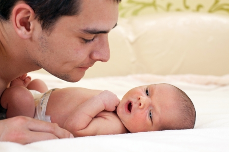 Young father and newborn baby boy  Stock Photo - 16609816