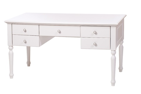 Elegant writing desk over white, with path Stock Photo - 11746080