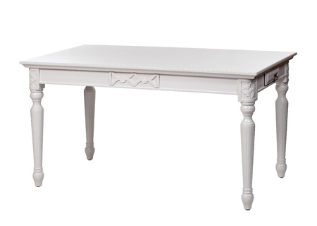 Elegant white table, with clipping path photo