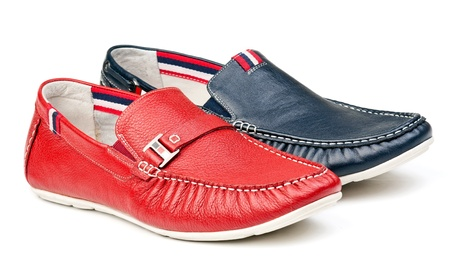 loafers: Two men loafers over white Stock Photo