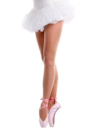 Cropped view of ballet dancer on pointe  photo