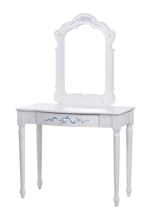 dressing: Elegant dressing table over white, with path