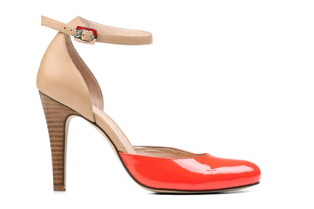 Summer fashion shoe over white Stock Photo - 12944709