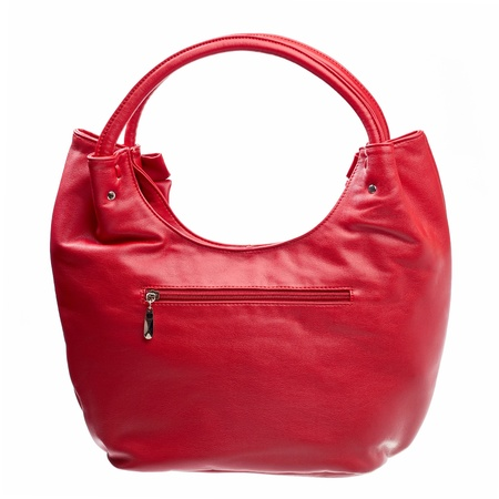Leather women bag isolated over white  photo