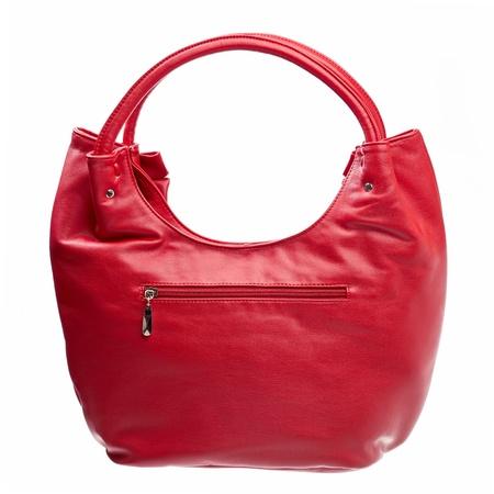 hobo: Leather women bag isolated over white  Stock Photo
