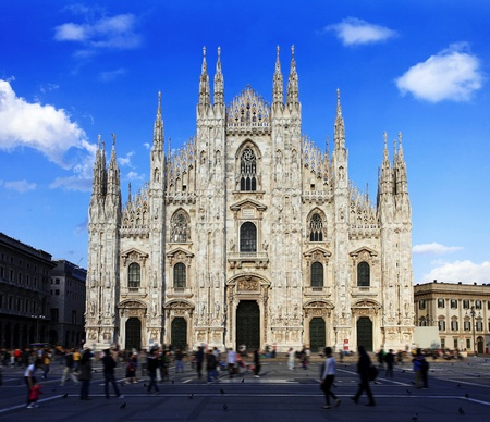 places of interest: Duomo di Milano, Milan, Italy