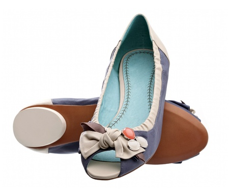 opentoe: Pair of open-toe summer shoes against white