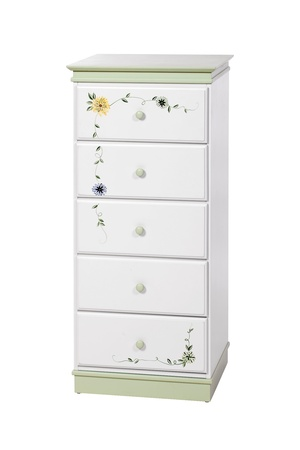 White wooden chest of drawers isolated, with clipping path  Stock Photo - 16952827