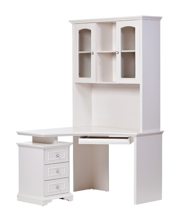 Workstation over white, with clipping path photo