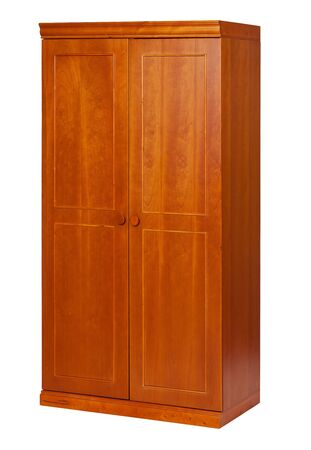 Two-section wardrobe isolated on white, with clipping path  photo