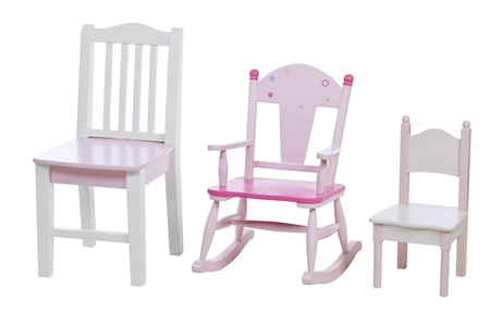 rocking chair: Children chairs isolated over white, with clipping path