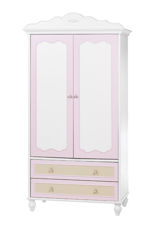 Two-section wardrobe isolated on white, with clipping path Stock Photo - 16951641