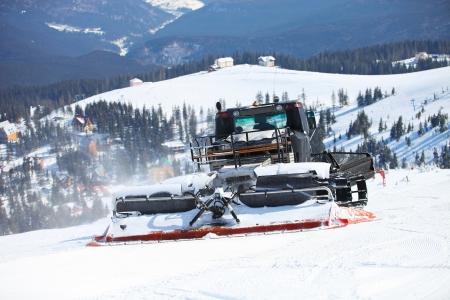 snowcat: Ratrack on a skiing slope