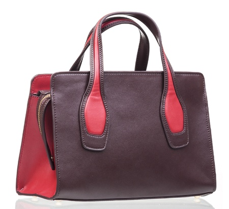 red purse: Fashion women bag isolated over white