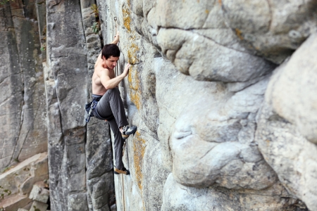 Rock climber Stock Photo - 16765334