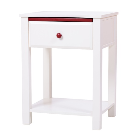 White wooden nightstand isolated, with clipping path Stock Photo - 16970449
