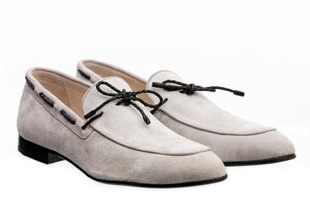 Pair of elegant men shoes over white background Stock Photo - 16730682