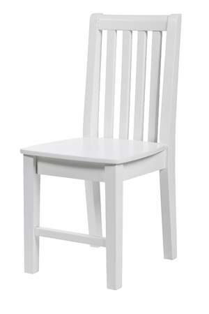 Wooden chair isolated over white, with clipping path  photo