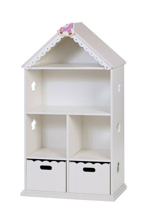 Kids bookcase with cabinet shaped as house Stock Photo - 16954268