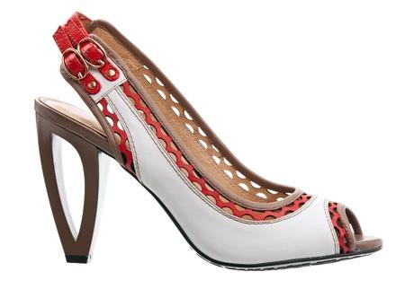 heel strap: Fashion female shoe isolated over white
