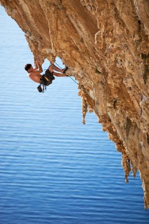 climber: Rock climber