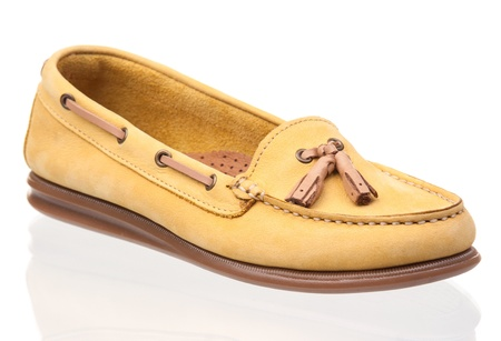 loafers: Two women loafers over white background