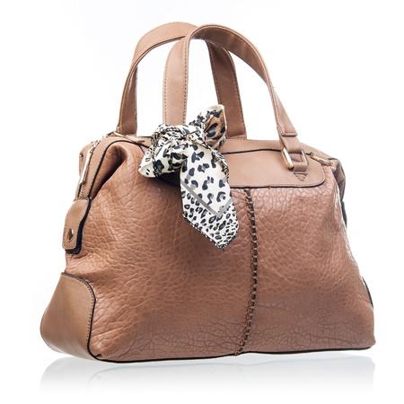 Fashion women handbag over white