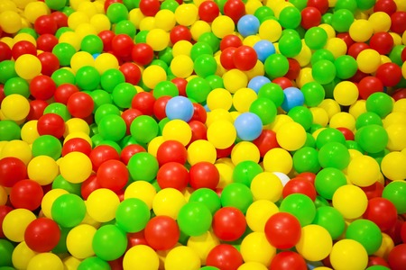 playcentre: Background of colorful plastic balls in children park