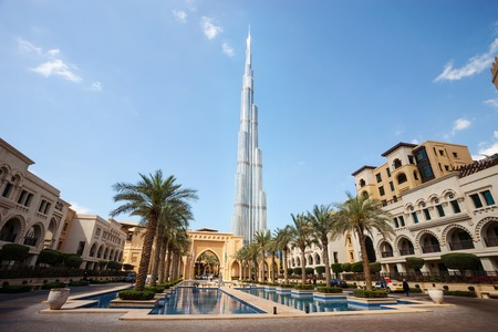 View of Burj Khalifa, the tallest building in the world, 829.8 m tall