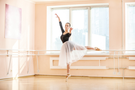 one girl: Young ballet dancer