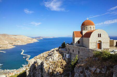 Klooster van Agios Savvas, Pothia, hoofdstad van Kalymnos, Dodecanese, Griekenland
