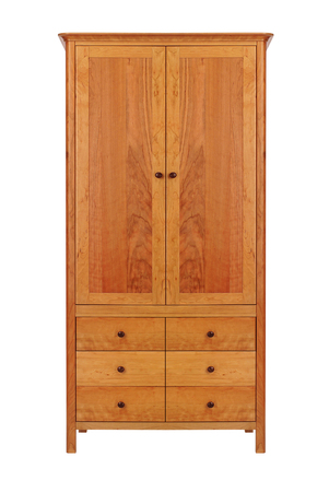wooden furniture: wardrobe isolated