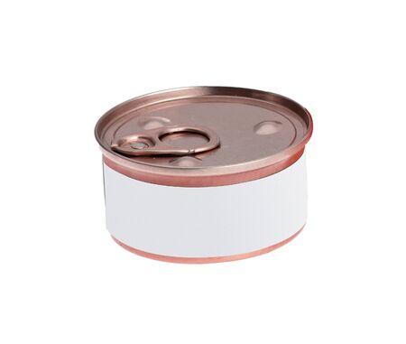 tincan: Can on white background Stock Photo