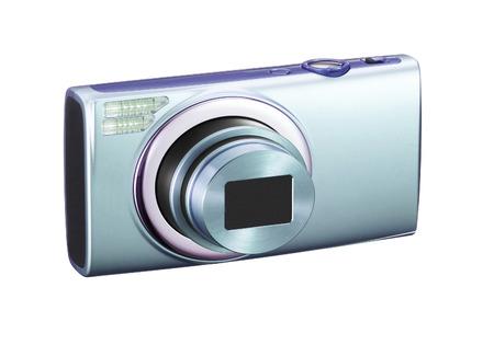 photocamera: Photocamera on white background Stock Photo