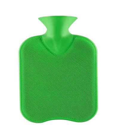 hottie: green rubber hotty Stock Photo