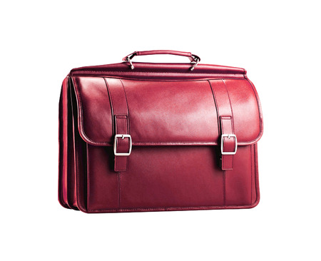 leather bag: Leather bag Stock Photo