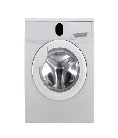 launder: washing machine on white background
