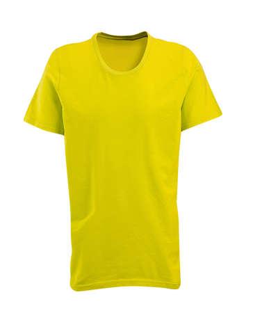 t short: Yellow shirt Stock Photo