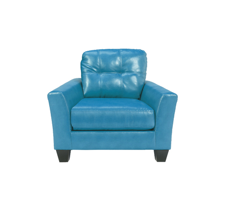 leather chair: Blue leather chair Stock Photo