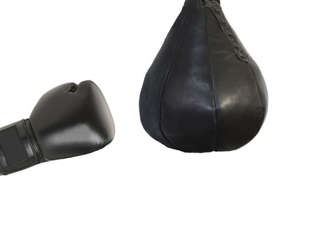 punching: Boxing glove and a punching bag