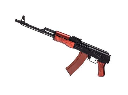 ak 47: AK 47 on white background