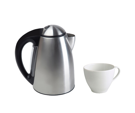 electric tea kettle: Kettle on white background